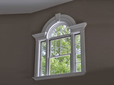 Excellent Interesting Arched Window Frame Mirror With Decorating HP51
